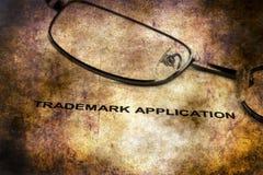 Trademark application grunge concept. Close up of Trademark application grunge concept stock photo