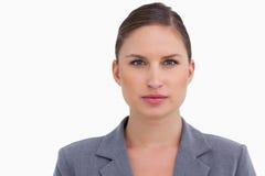 Close up of tradeswoman Stock Image