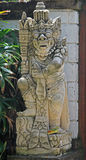 Close up of a traditional Balinese God statue Stock Photography