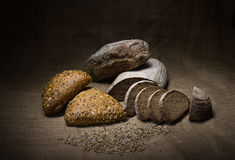 Close-up of traditional bread. Healthy food. Royalty Free Stock Photo