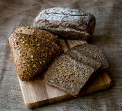 Close-up of traditional bread. Healthy food. Royalty Free Stock Photography