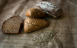 Close-up of traditional bread. Healthy food. Royalty Free Stock Image