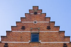 Close up traditional brickwork Bruges Stock Image