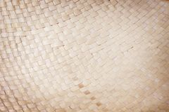 Traditional handcraft dried coconut leaves woven patterns for texture or background royalty free stock photo