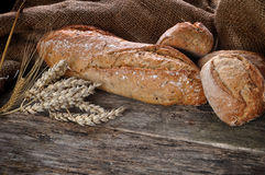 Close-up of traditional homemade bread Royalty Free Stock Images