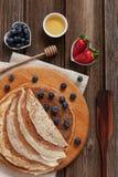 Close up of Traditional homemade pancakes. Celebration of Maslenitsa, Shrovetide.  stock photography