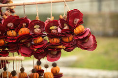 Close-up of traditional Hungarian natural decorations for Christmas. Stock Photo