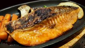 Close-up traditional japanese food grilled teriyaki salmon Stock Photography