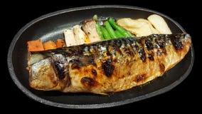 Close-up traditional japanese food saba shioyaki Royalty Free Stock Images