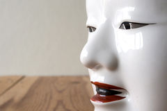 Close up of Traditional japanese theater masks made of seramic Royalty Free Stock Images