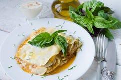 Close-up of a traditional lasagna Royalty Free Stock Photo