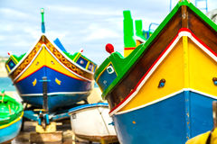 Close up of traditional Maltese colorful boat Royalty Free Stock Image