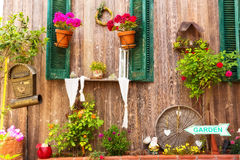 Close up of a traditional mediterranean house Stock Photos