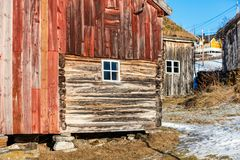 Northern Norway hut Royalty Free Stock Photo