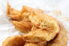 Close up of a traditional portuguese fried cake dough Royalty Free Stock Photos