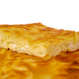 Close up of traditional Turkish homemade pastry with cheese called Su Boregi, served generally for breakfast with tea. Closeup of traditional Turkish homemade Royalty Free Stock Photo