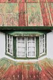 Close-up of a traditional wooden building facade in Sagada stock images