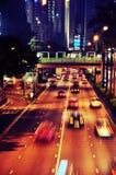 Close up traffic in Hong Kong Stock Image