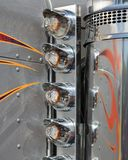 Close Up Trailer Side Lights Royalty Free Stock Photos
