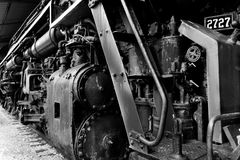 Close up of a train engine B Royalty Free Stock Image