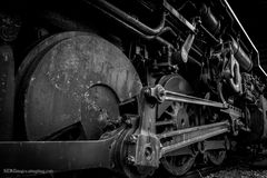 Close up of a train engine B Stock Images