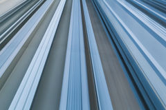 Close up train moving track blurred motion. Abstract background Stock Photo