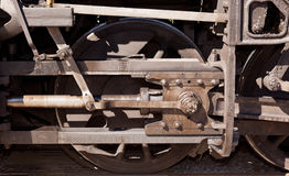Close up of train wheel Stock Images