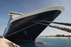 Close up of a transatlantic passenger cruise ship Stock Photography