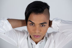 Close up of transgender woman Stock Images