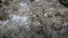 Close up of a waterfall. Close up of a transparent waterfall stock video footage