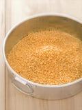 Golden breadcrumbs Stock Image