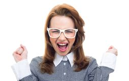 Close-up trendy woman Stock Photography