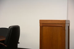 Close-up of tribune in conference room Royalty Free Stock Photo