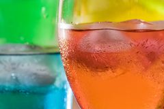 Close up of tropical drinks stock photography