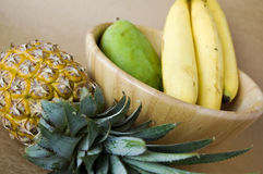 Close up tropical fruits Royalty Free Stock Photos
