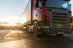 Close up of truck on parking Stock Photo