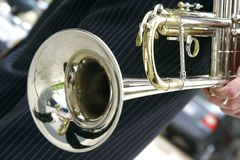 Close up of trumpet. Close up image of trumpet Royalty Free Stock Photos