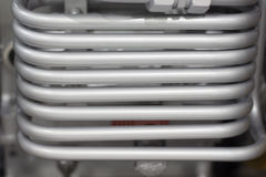 Close up tube or coil of heat exchanger of  industrial equipment Stock Image