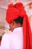 Close up of turban of a guard at Diwan-i-Khas Royalty Free Stock Photos