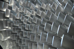 Close up of turbine blades Royalty Free Stock Image