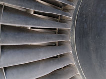 Close up of turbine and blades of a jet engine Royalty Free Stock Images