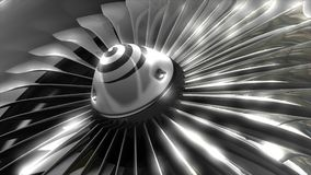Close up turbine engine front fan, engineering, jet, commercial. stock video
