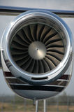 Close up of a turbo fan engine. For business jet stock photo