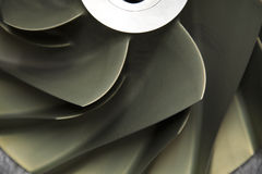 Close up Turbo-jet engine of the plane, Gas engine technology, Turbine technology for Machine or Generator Stock Photos