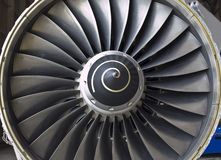 Close-up of a turbofan jet engine Royalty Free Stock Images
