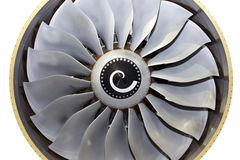 Close-up of a turbofan jet engine Royalty Free Stock Image