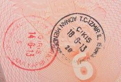 Close-up turkish customs stamps Stock Image