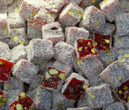 Close-up of Turkish Delight in the Spices Bazaar of Istanbul Stock Photography