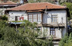 Close-up of a Turkish house from the historical highland city of Elmali, Antalya, Turkey stock image