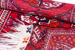 Close up of   Turkmenian  rug and edges Royalty Free Stock Photography